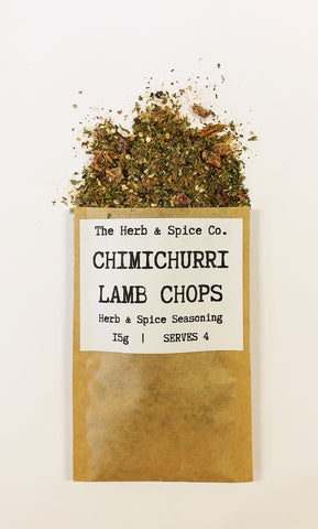 Chimichurri lamb chop Seasoning The Herb & Spice Co. Seasoning Blend Herbs Spices Recipe Mix