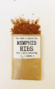 Memphis Ribs Seasoning The Herb & Spice Co. Seasoning Blend Herbs Spices Recipe Mix