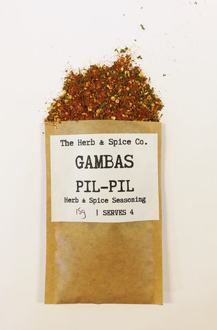 Gambas Pil Pil Spanish Prawns The Herb & Spice Co. Seasoning Blend Herbs Spices Recipe Mix