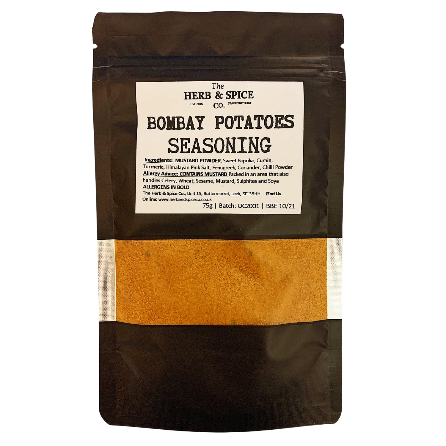 Bombay Potatoes Seasoning Spice Mix The Herb & Spice Co.