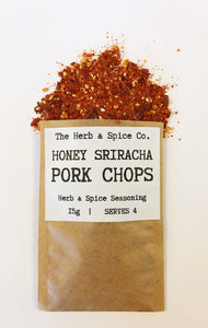 Honesy Sriracha Pork Chops Slimming World Seasoning The Herb & Spice Co. Seasoning Blend Herbs Spices Recipe Mix