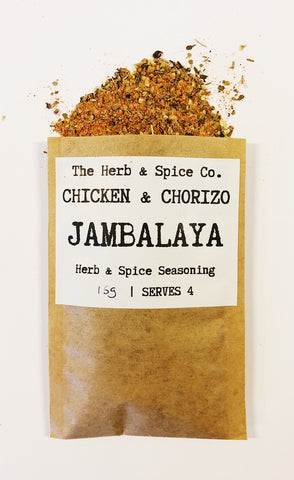 Chicken & Chorizo Jambalaya The Herb & Spice Co. Seasoning Blend Herbs Spices Recipe Mix