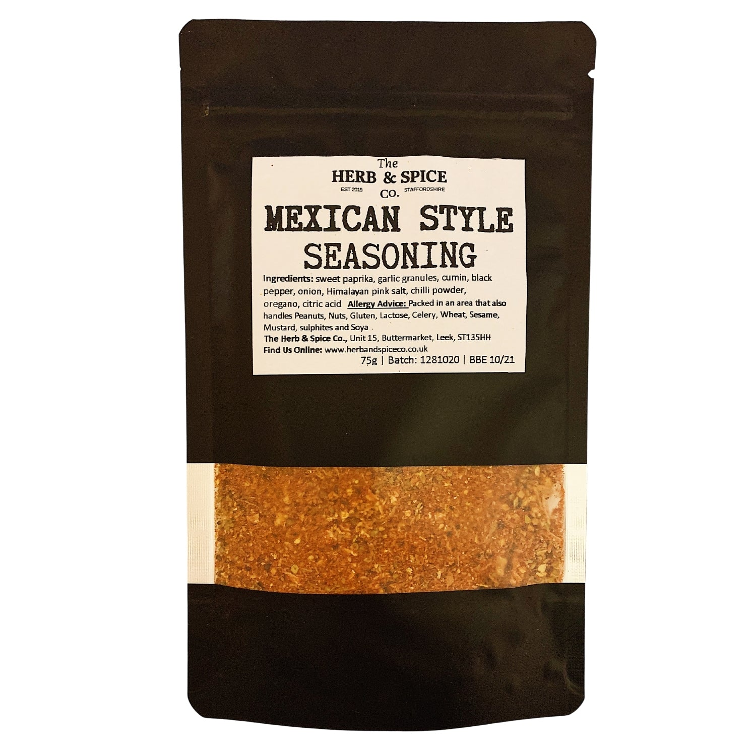 Mexican Style Fajita Spice Mix Seasoning The Herb & Spice Co.