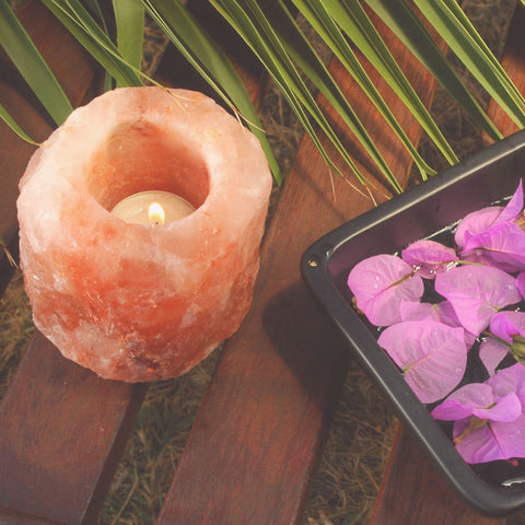 Himalayan Pink Salt Tealight Holder The herb & Spice Co.