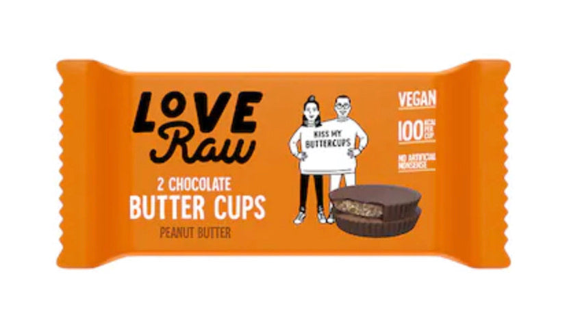 LoveRaw Peanut Butter Cups Raw Chocolate 34g