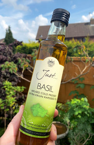 Basil Infused Rapeseed Oil - JustOil 250ml