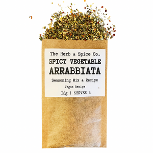 spicy vegetable arrabbiata seasoning mix recipe sachet the herb & spice co.