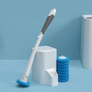 Replaceable Disposable Pad Toilet Wand