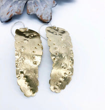 Load image into Gallery viewer, Bronze Feather Earrings