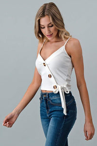 Jess Button Tank - Sublime Clothing Boutique