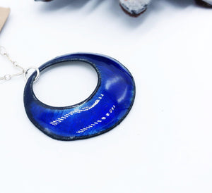 Blue Enamel Necklace - Sublime Clothing Boutique