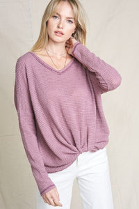 Darby Waffle Sweater Top - Sublime Clothing Boutique