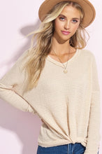 Load image into Gallery viewer, Darby Waffle Sweater Top