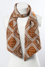 Load image into Gallery viewer, Tasteful Terracotta Satin Scarf