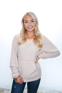 Cozy Kangaroo Waffle Knit - Sublime Clothing Boutique