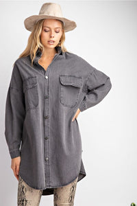 Hailey Denim Shirt Dress - Sublime Clothing Boutique