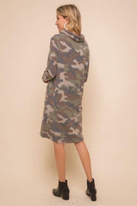 At Attention Cowl Camo Dress - Sublime Clothing Boutique