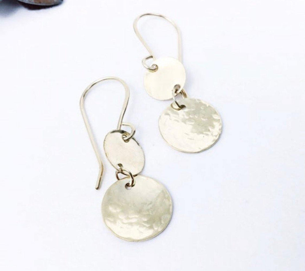 Dainty Double Disc Earrings - Sublime Clothing Boutique