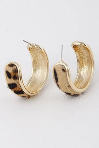 Leopard Hoop Earring - Sublime Clothing Boutique