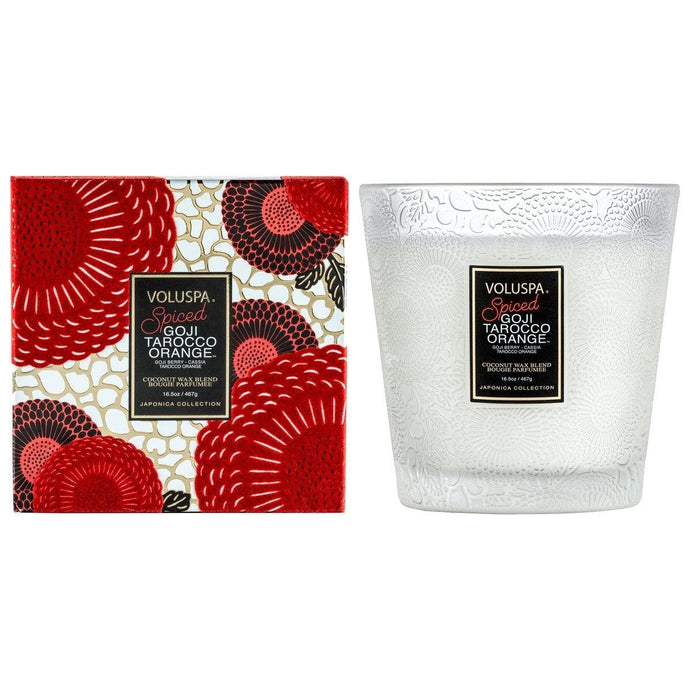 Voluspa Spiced Goji Tarocco Orange 2 Wick Hearth Candle - Sublime Clothing Boutique