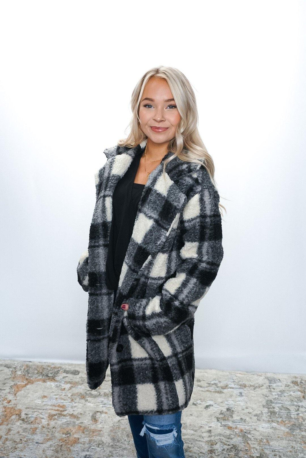 Love You Sheerly Plaid coat