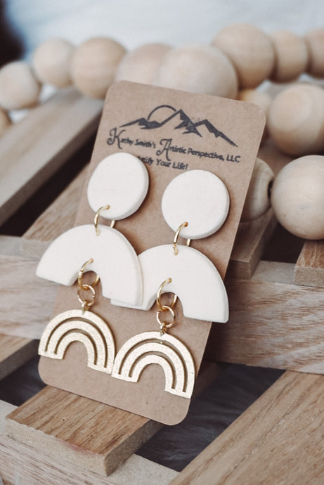 Rainbow Days Clay Earrings
