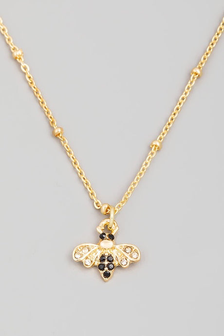 Queen Bee Charm Necklace