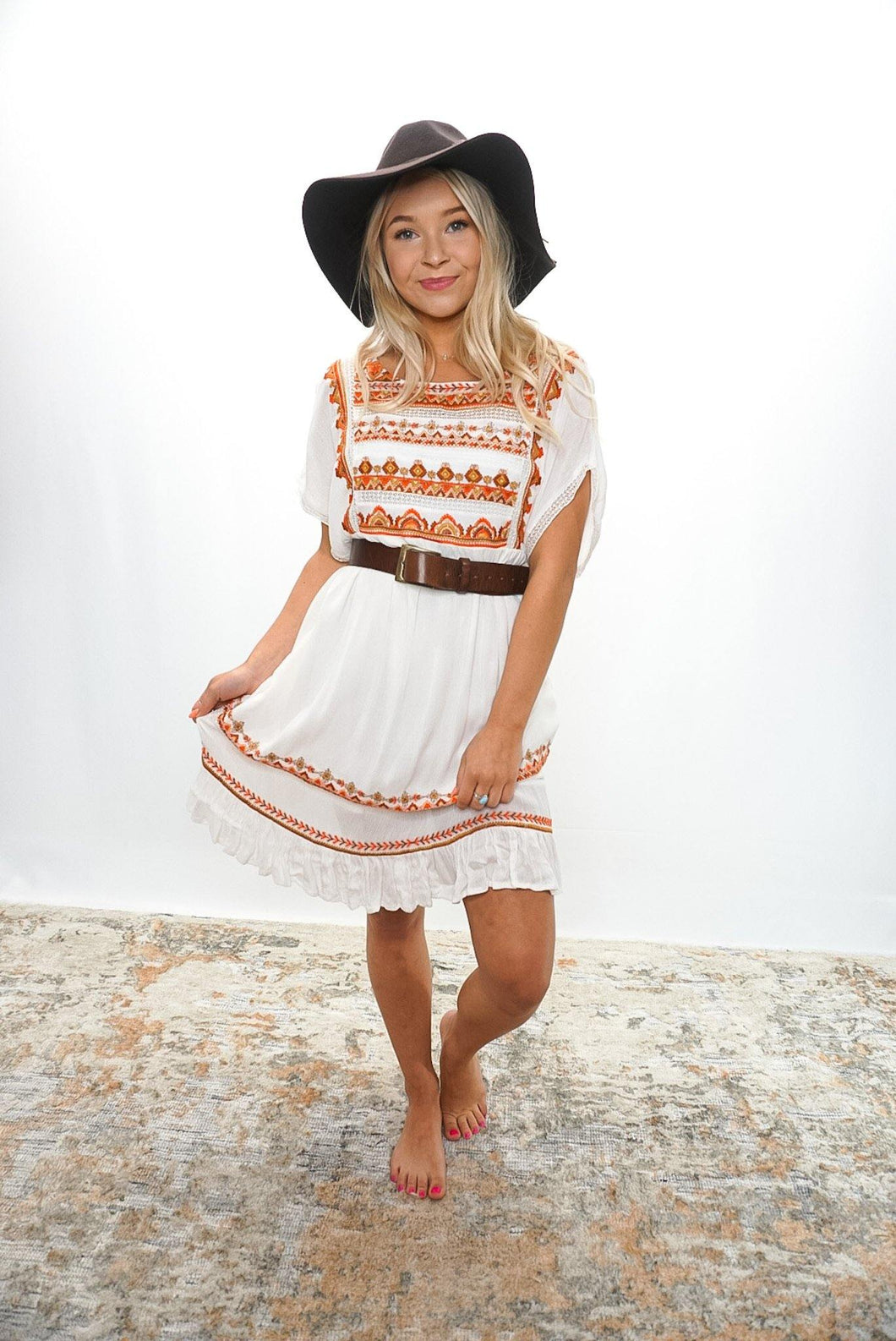 Free People Terra Cotta Dress - Sublime Clothing Boutique