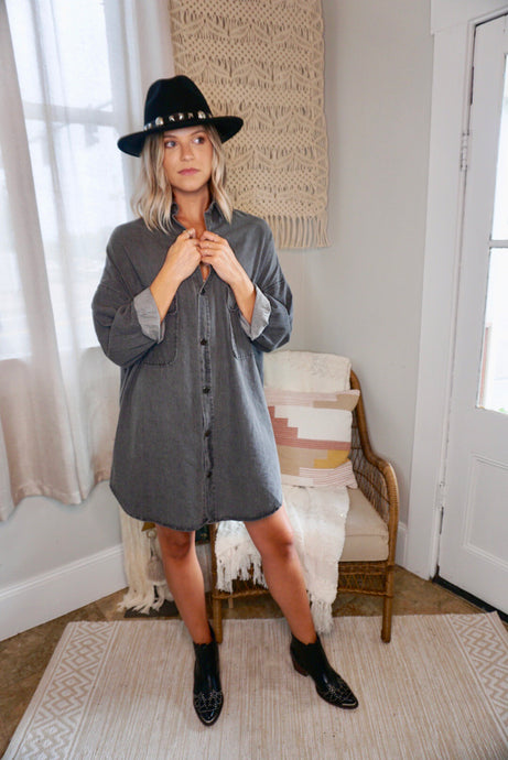 Hailey Denim Shirt Dress