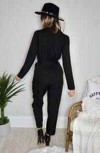 Blacked-Out Jumpsuit