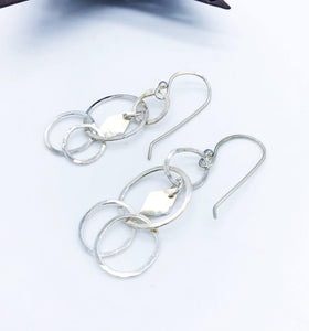 Circles & Diamonds Dangle Earrings - Sublime Clothing Boutique