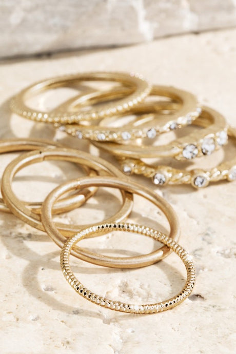 Dainty Gold Set of Rings