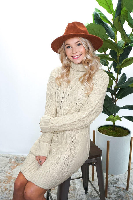 Crosby Cable Knit Sweater Dress - Sublime Clothing Boutique