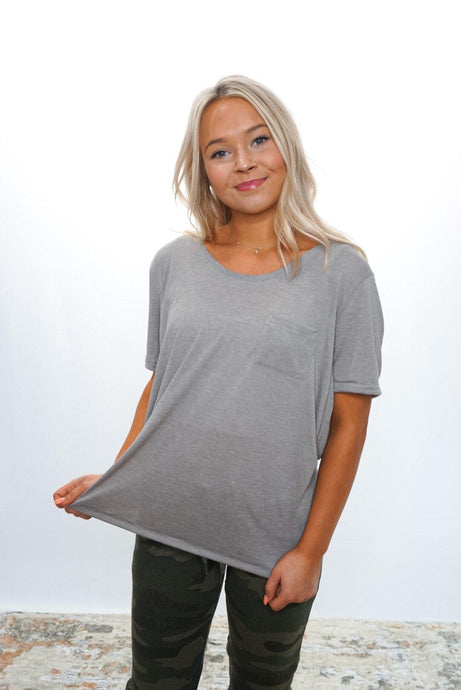 Rose Pocket Tee - Sublime Clothing Boutique
