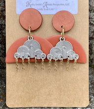 Load image into Gallery viewer, Terra Cotta Clouds Clay Earring - Sublime Clothing Boutique