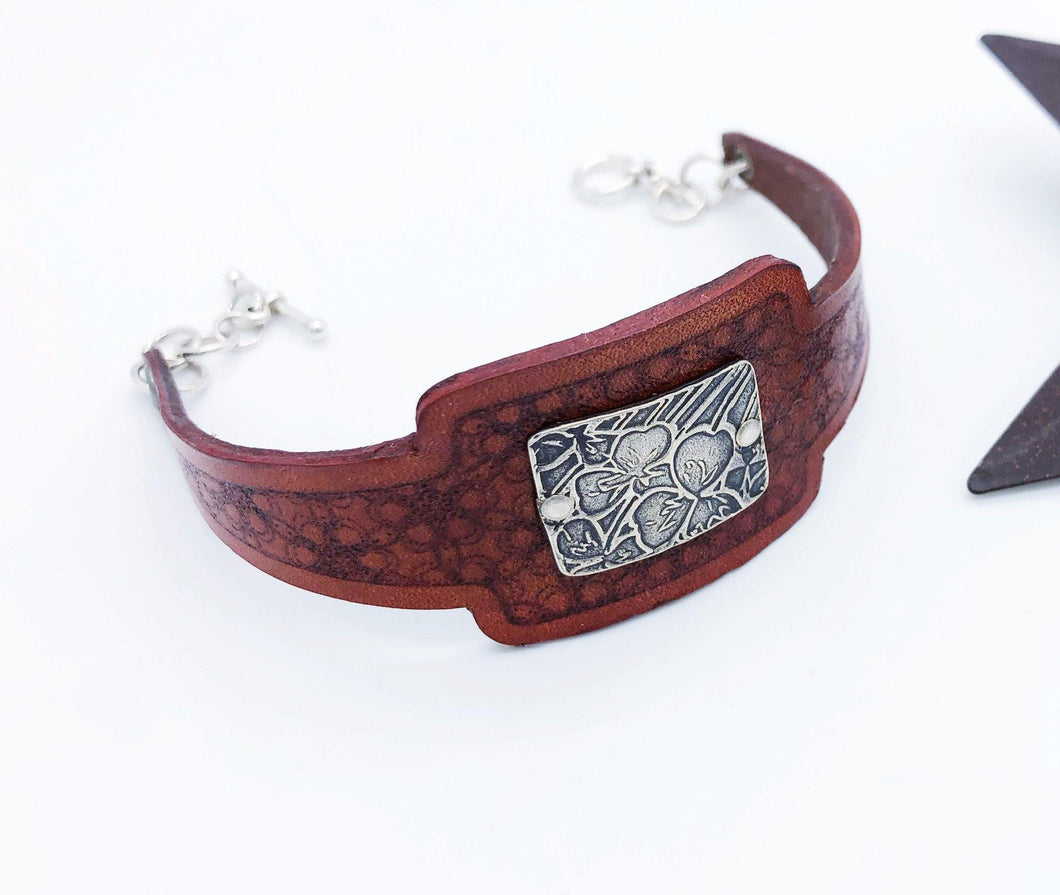 Leather Flower Bracelet - Sublime Clothing Boutique