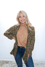 Load image into Gallery viewer, Cassy Oversized Plaid Shirt - Sublime Clothing Boutique