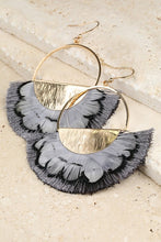 Load image into Gallery viewer, Semicircle Feather Earrings