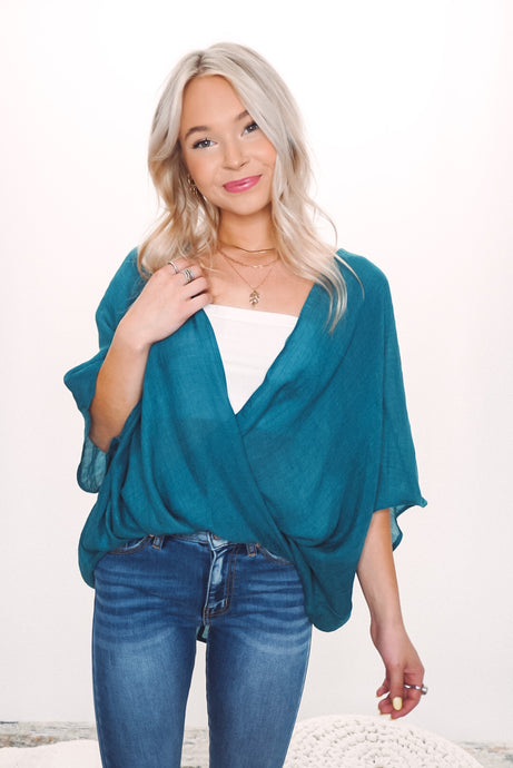 Stay Sunny Wrap Top