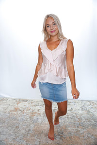Refined Taste Ruffle Tank - Sublime Clothing Boutique