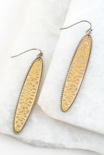 Load image into Gallery viewer, Two Tone Tile Oval Hook Earring - Sublime Clothing Boutique