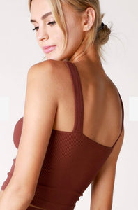 NikiBiki Ruby Ribbed Crop Tank - Sublime Clothing Boutique
