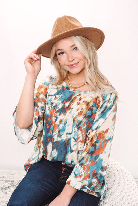 Too Trendy Tie Dye Top - Sublime Clothing Boutique