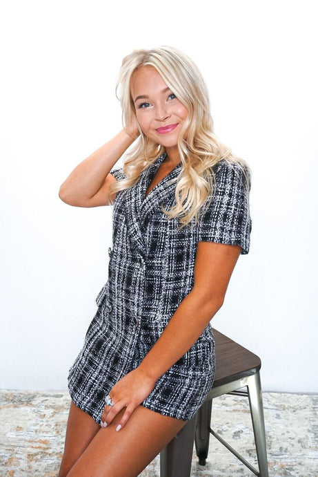 Blair Plaid Romper - Sublime Clothing Boutique
