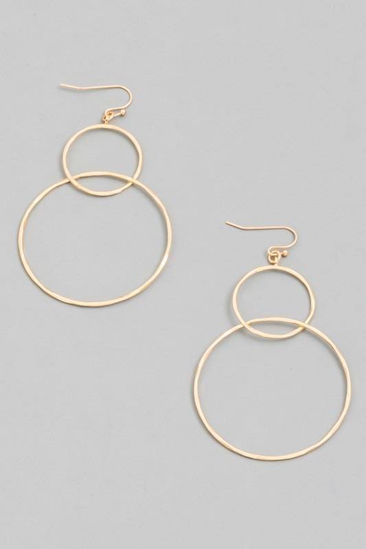 Circle Around Hoop Earrings - Sublime Clothing Boutique
