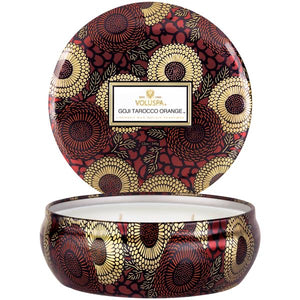 Voluspa Goji Tarocco Orange 3 Wick Tin - Sublime Clothing Boutique
