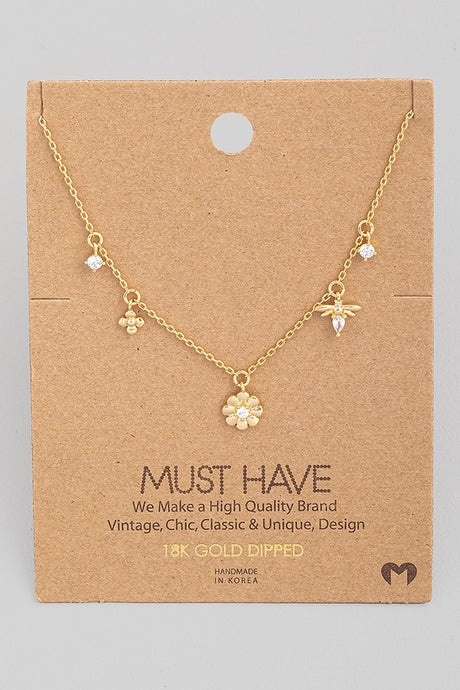 Dainty Daisy Charm Necklace