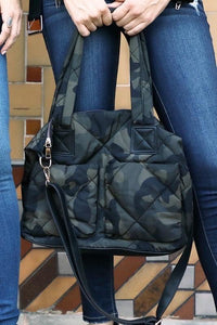 Camo Puffer Tote - Sublime Clothing Boutique