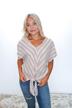 Load image into Gallery viewer, Goldie Tie Front Top - Sublime Clothing Boutique
