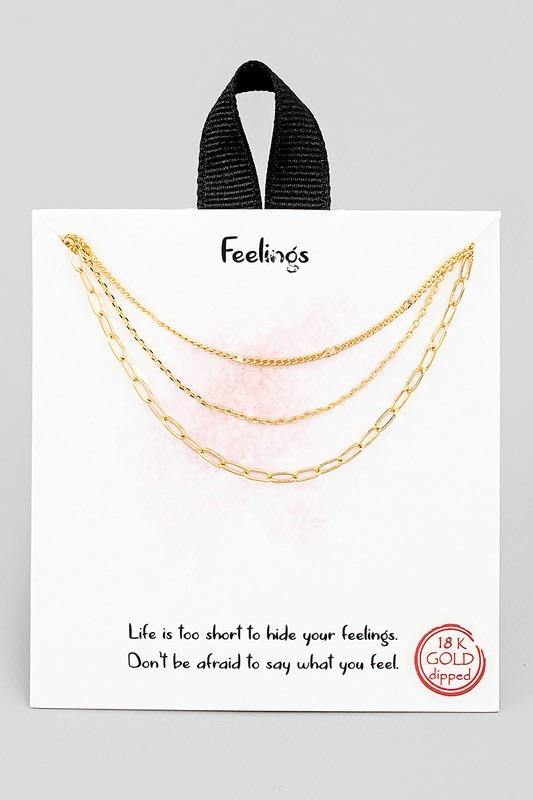 Feelings Necklace - Sublime Clothing Boutique